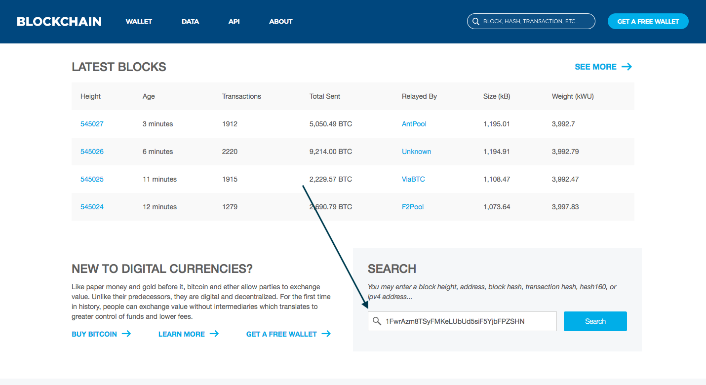 You can look after your transactions with the Blockchain explorer feature