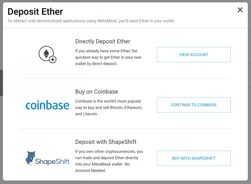 metamask_deposit options