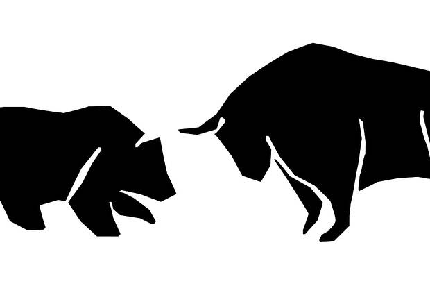 bull and bear cryptocurrency