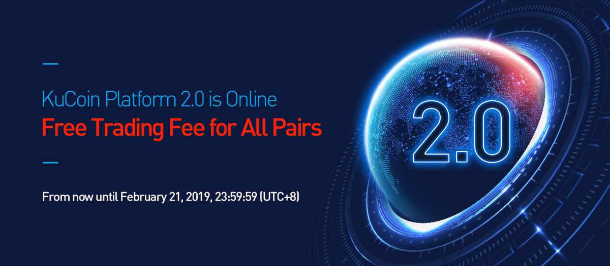 Free trading fee on Kucoin until FEB 21 !