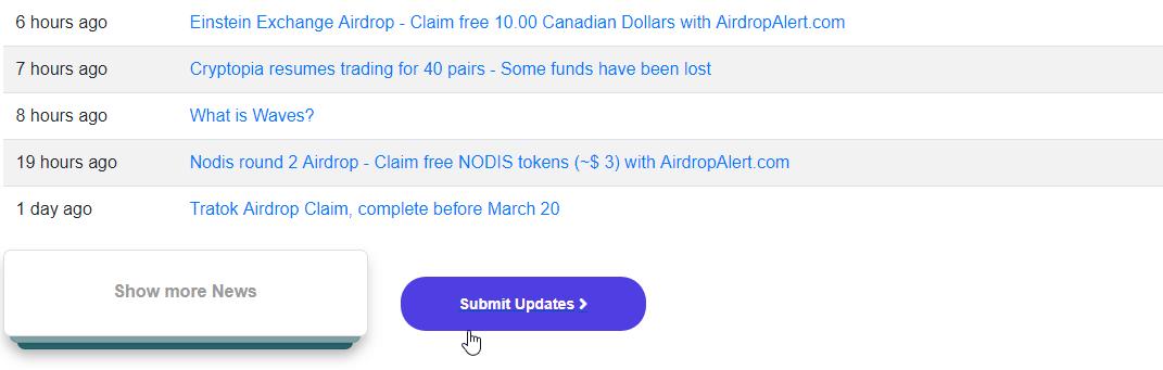 airdrop updates