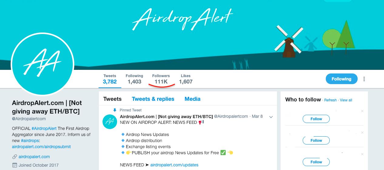 Airdrop Alert Twitter