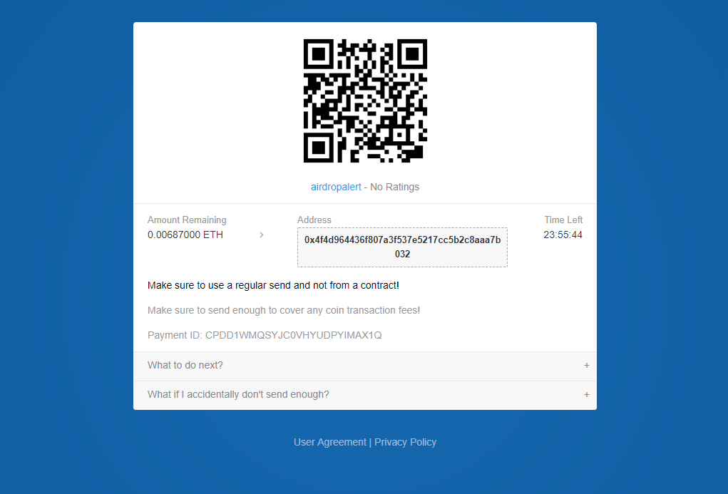 airdrop payments