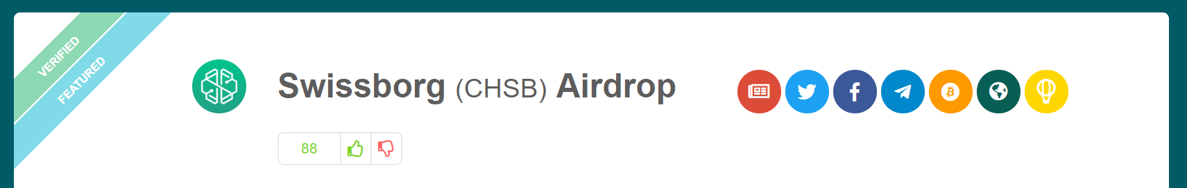 Verified airdrop