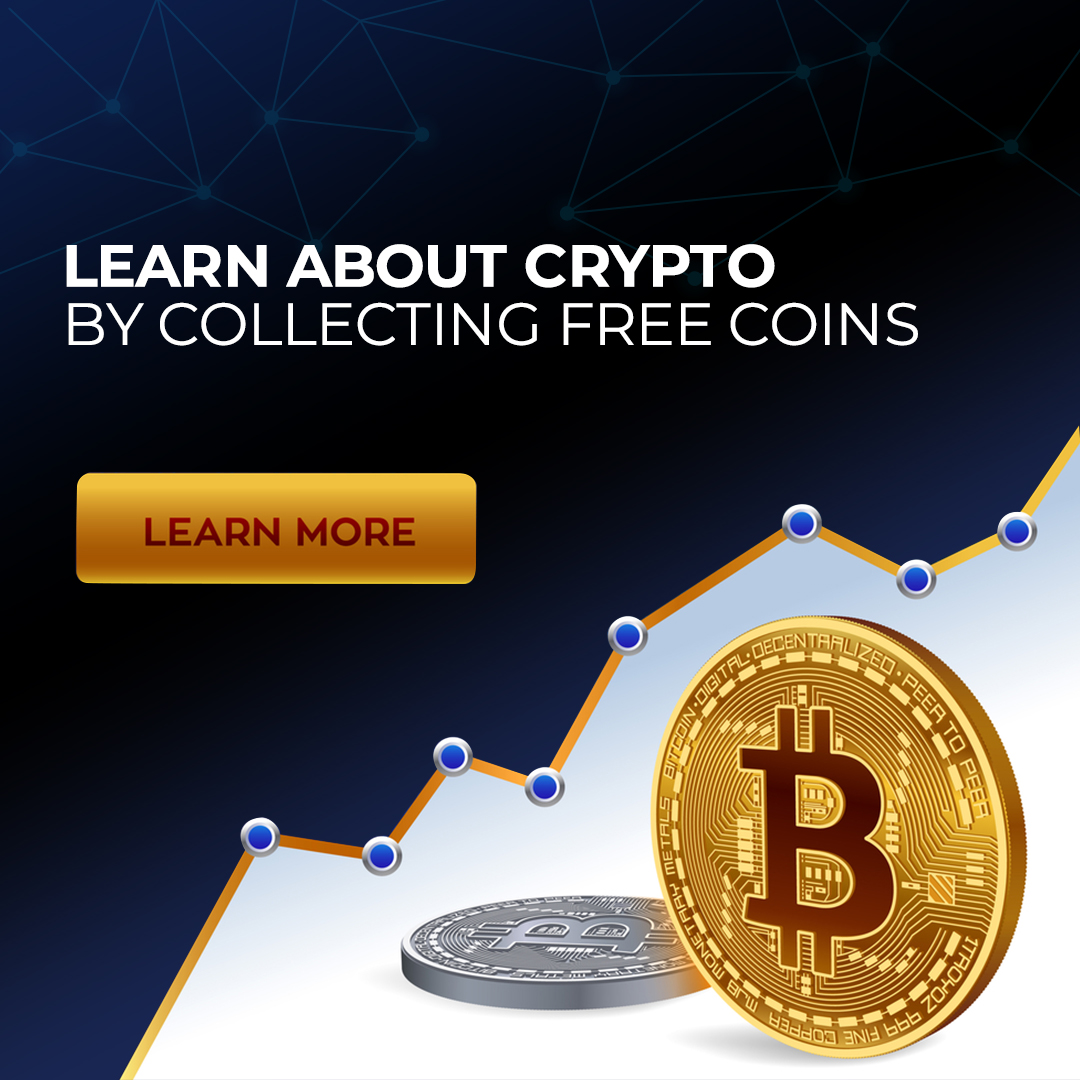Learn about crypto by collecting free coins