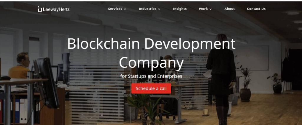 blockchain development company  leewayhartz