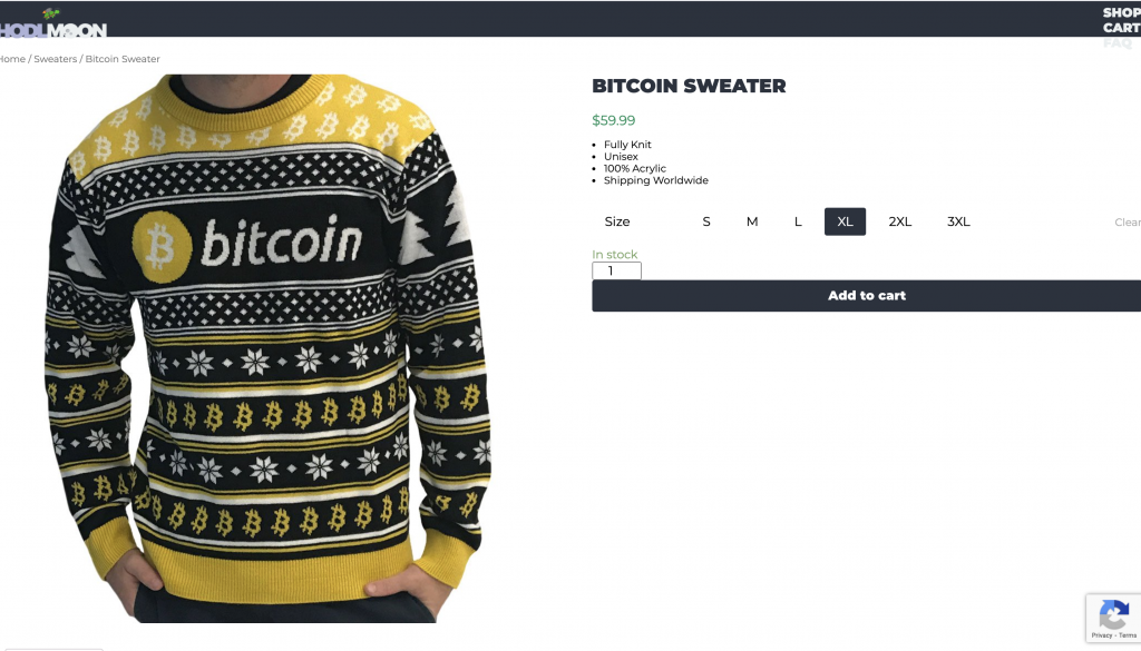 crypto gifts ugly bitcoin sweater