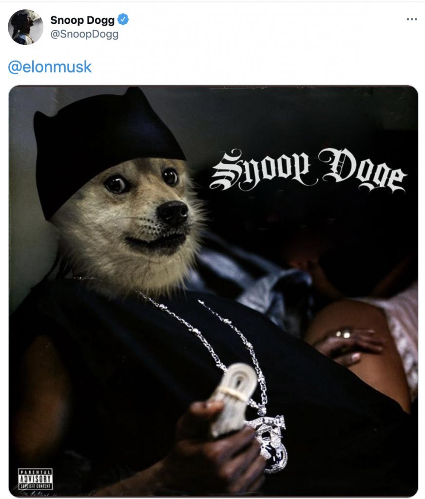 snoop dogg elon musk dogecoin